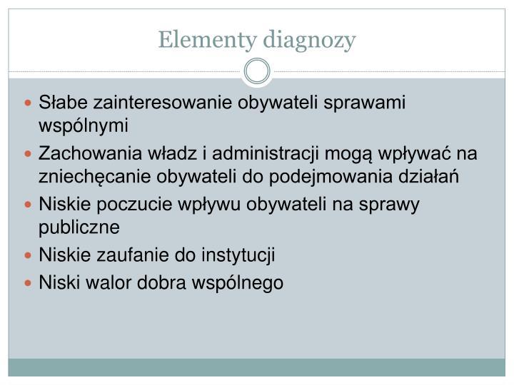 Elementy diagnozy