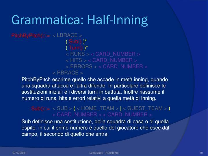 Grammatica: Half-Inning