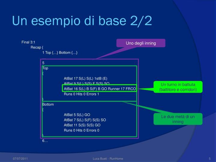Un esempio di base 2/2