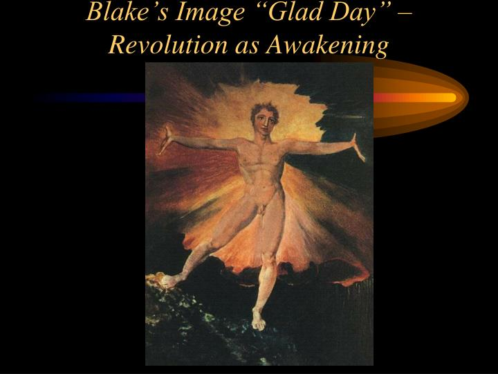 "Blake's Image ""Glad Day"" – Revolution as Awakening"