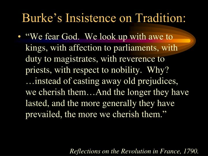 Burke's Insistence on Tradition:
