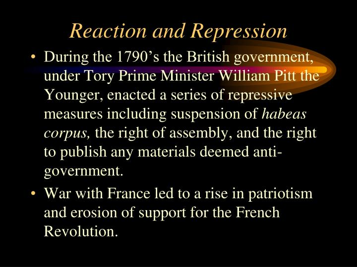 Reaction and Repression