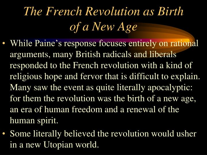 The French Revolution as Birth of a New Age