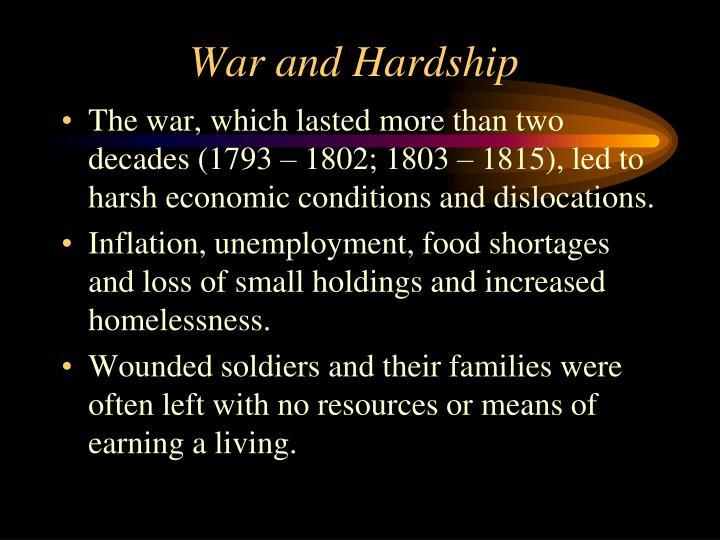 War and Hardship