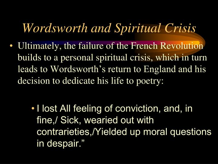 Wordsworth and Spiritual Crisis