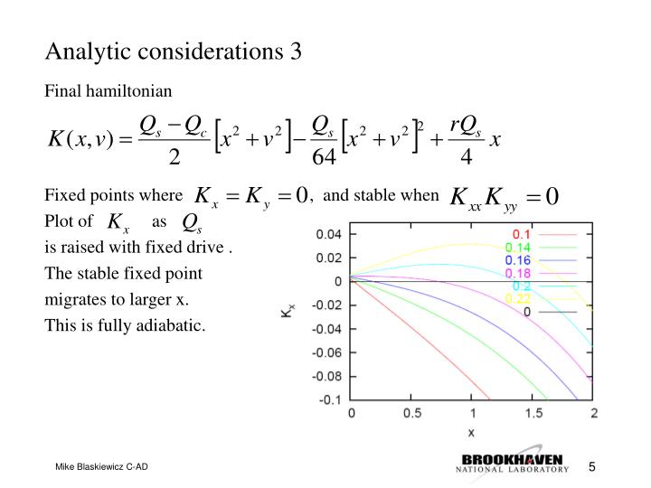Analytic considerations 3