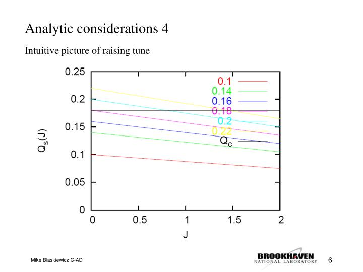 Analytic considerations 4