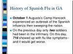 history of spanish flu in ga