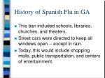 history of spanish flu in ga5