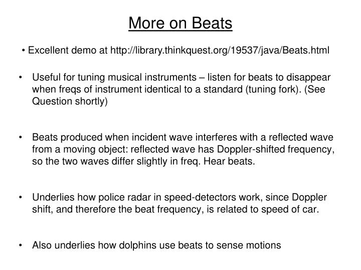 More on Beats
