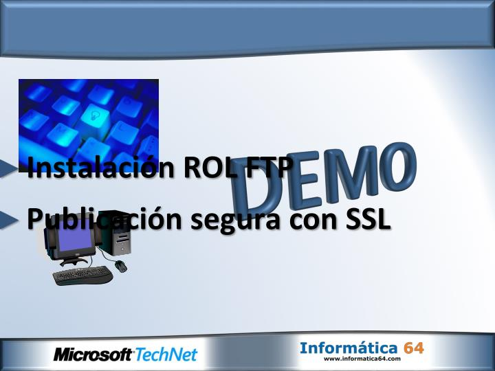 Instalación ROL FTP
