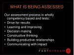 what is being assessed