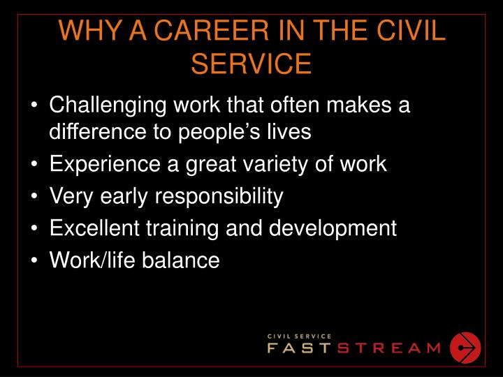Why a career in the civil service