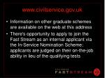 www civilservice gov uk