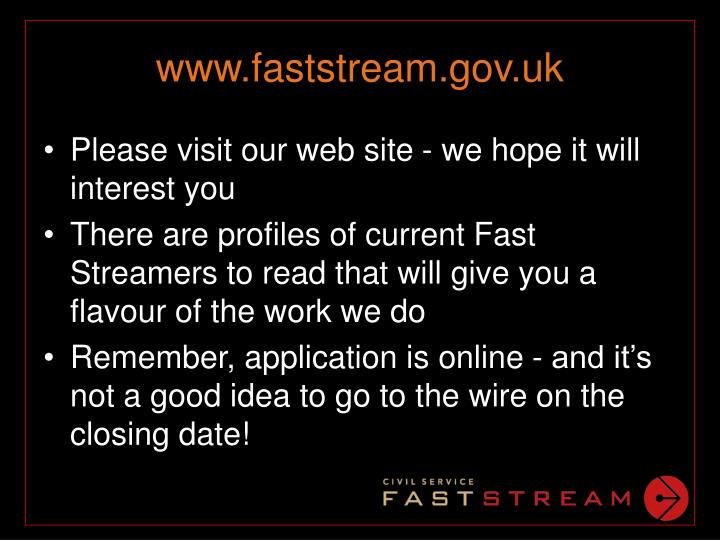 www.faststream.gov.uk