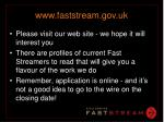 www faststream gov uk