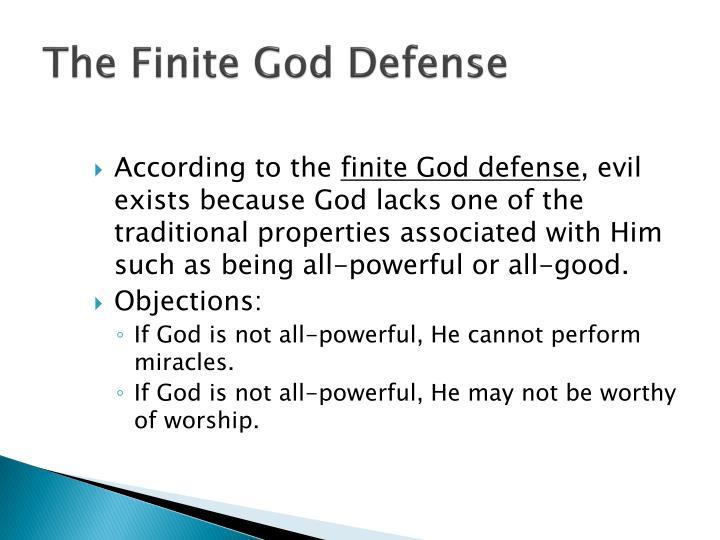 The Finite God Defense