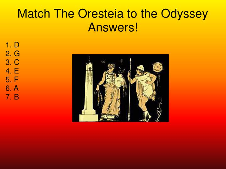 Match The Oresteia to the Odyssey Answers!