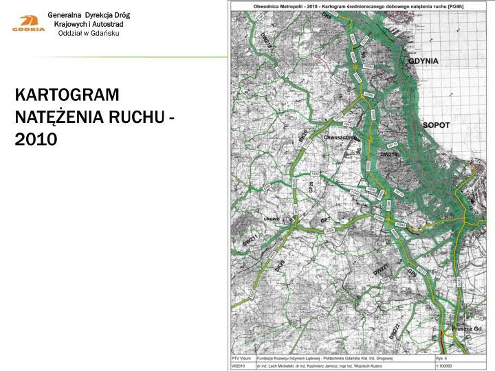 Kartogram natężenia ruchu - 2010