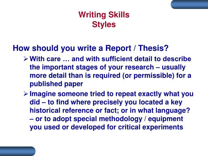 Writing Skills