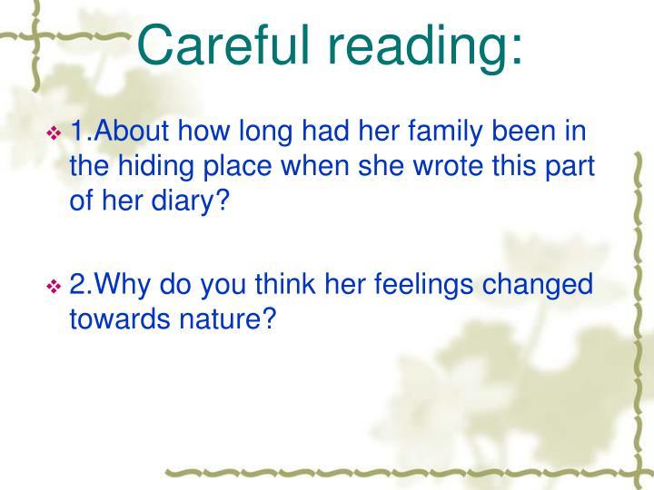 Careful reading:
