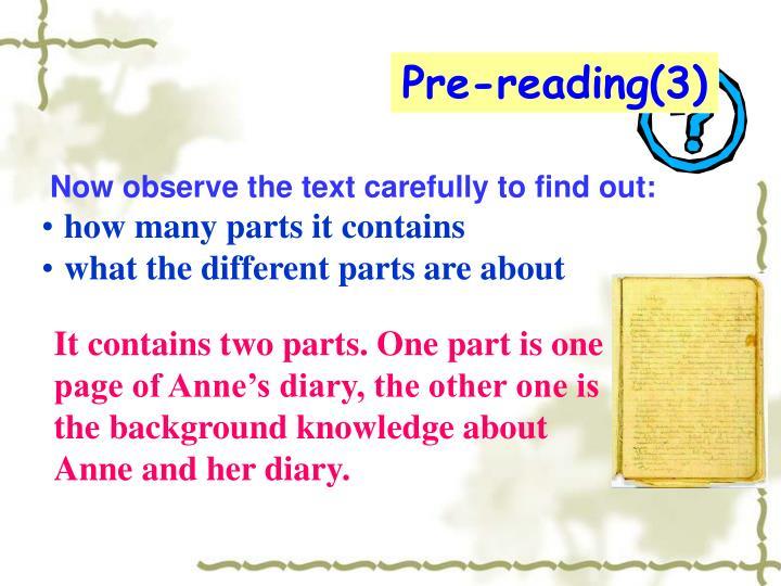 Pre-reading(3)