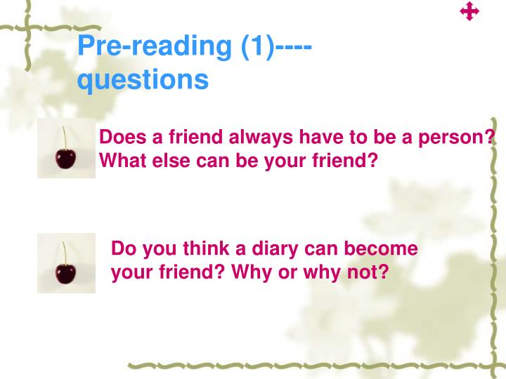 Pre-reading (1)----questions