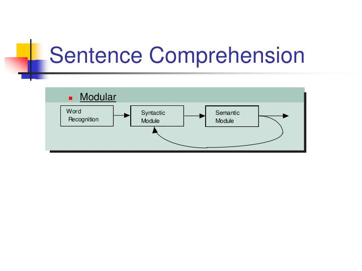 Sentence Comprehension