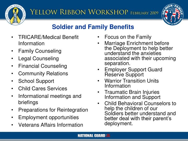 TRICARE/Medical Benefit Information