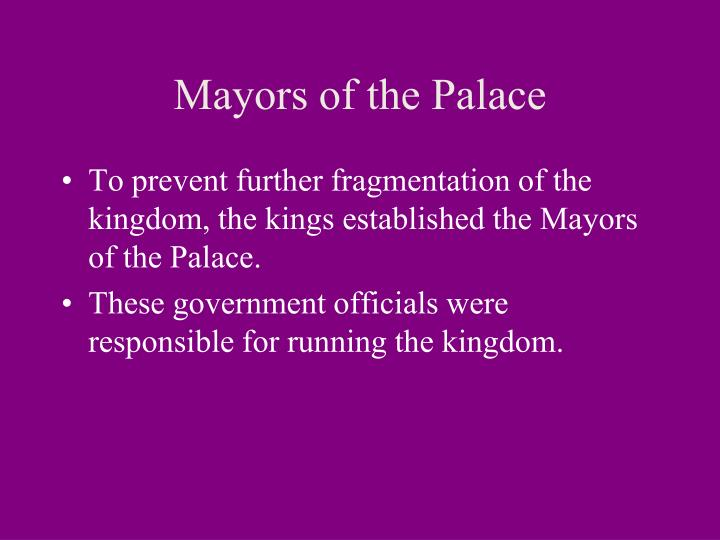 Mayors of the Palace