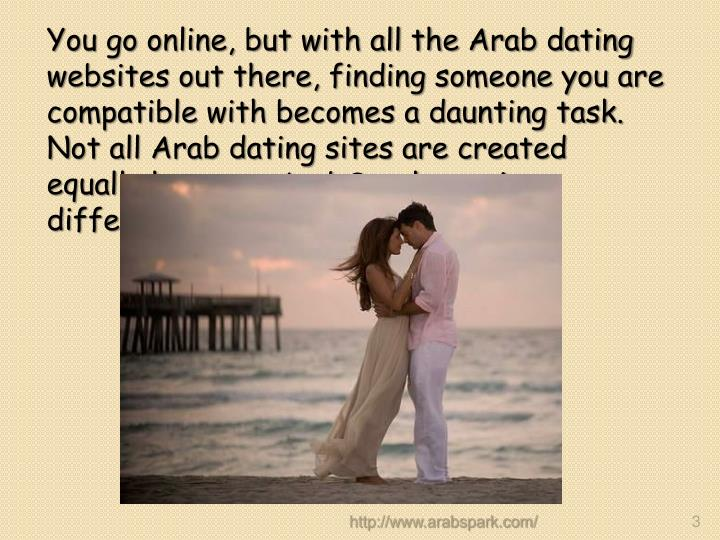 You go online, but with all the Arab dating websites out there, finding someone you are compatible with becomes a daunting task. Not all Arab dating sites are created equally however ArabSpark.com is different.