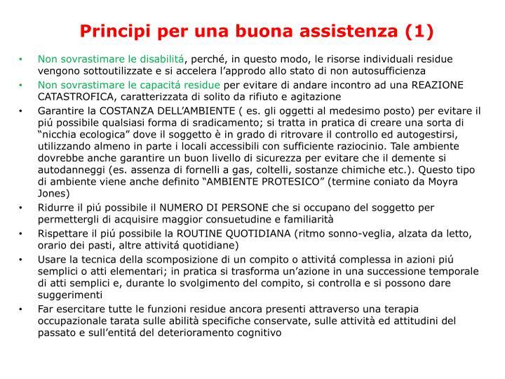 Principi per una buona assistenza (1)