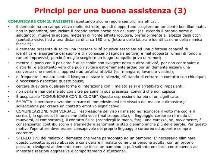 Principi per una buona assistenza (3)