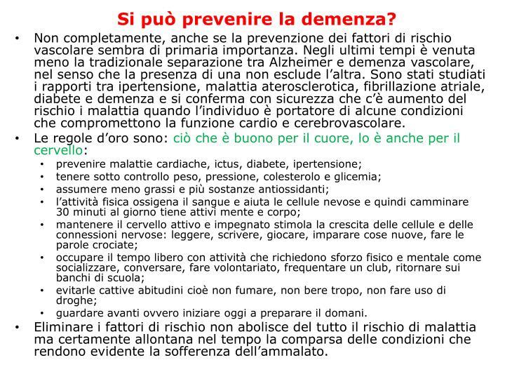 Si può prevenire la demenza?