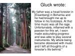 gluck wrote
