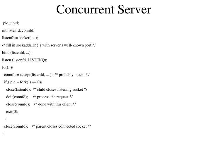 Concurrent Server