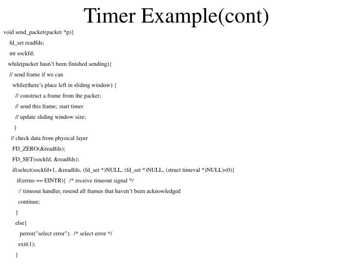 Timer Example(cont)