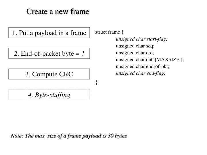 Create a new frame
