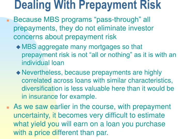 Dealing With Prepayment Risk