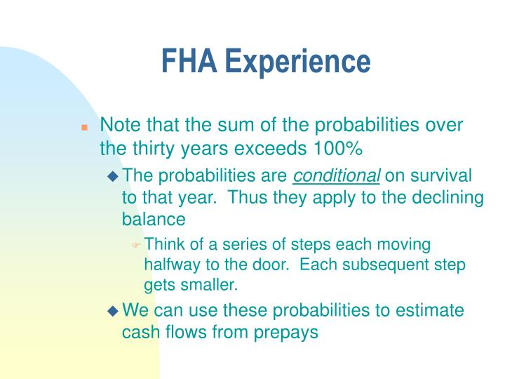 FHA Experience