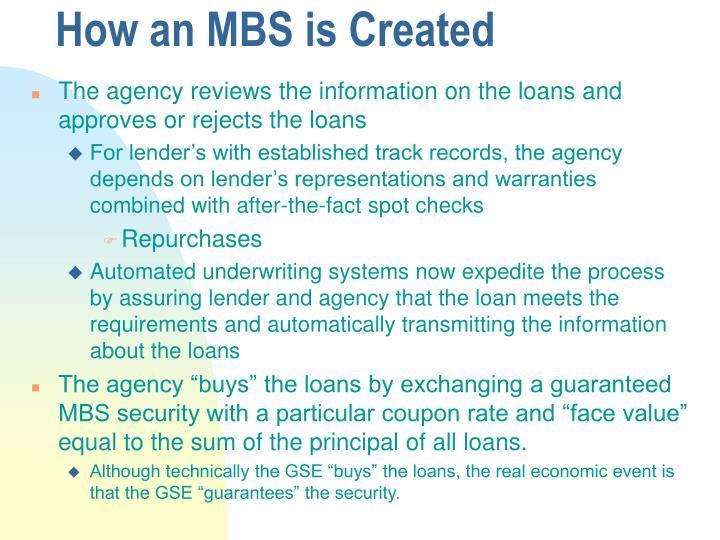 How an MBS is Created
