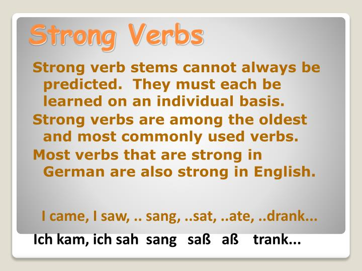 Strong verb stems cannot always be predicted.  They must each be learned on an individual basis.
