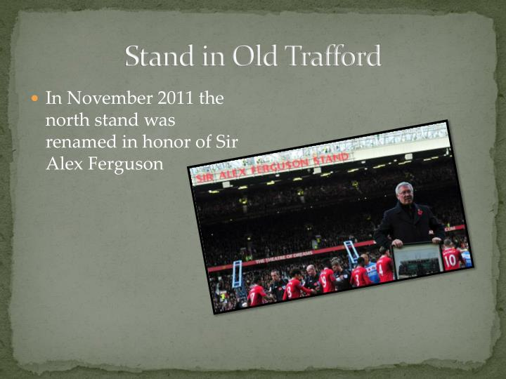 Stand in Old Trafford