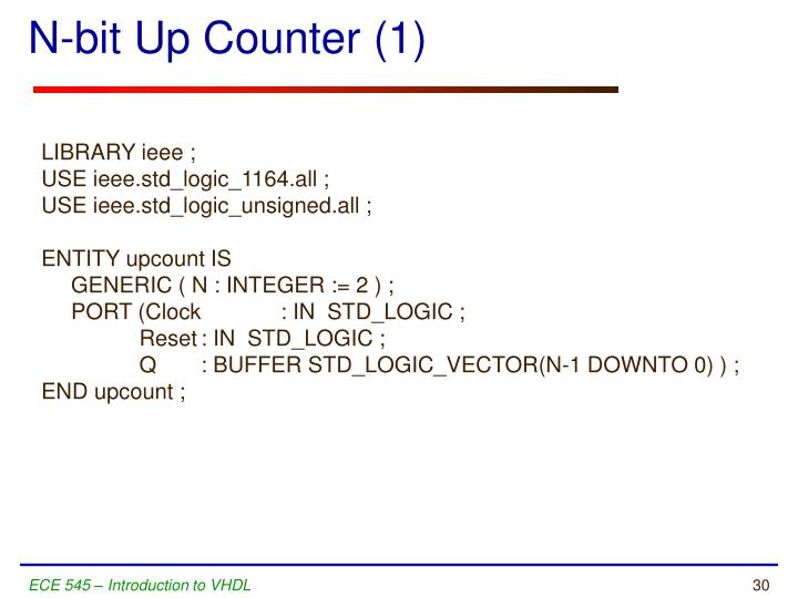 N-bit Up Counter (1)