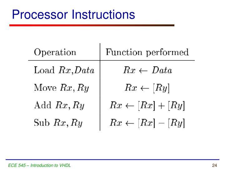 Processor Instructions