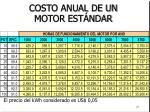 costo anual de un motor est ndar