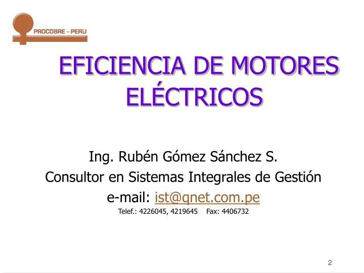 EFICIENCIA DE MOTORES ELÉCTRICOS