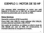 ejemplo 1 motor de 50 hp