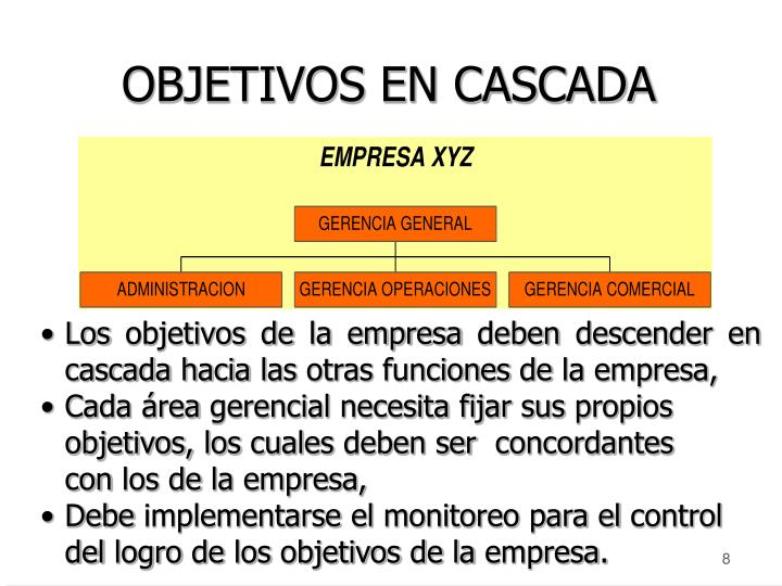 OBJETIVOS EN CASCADA