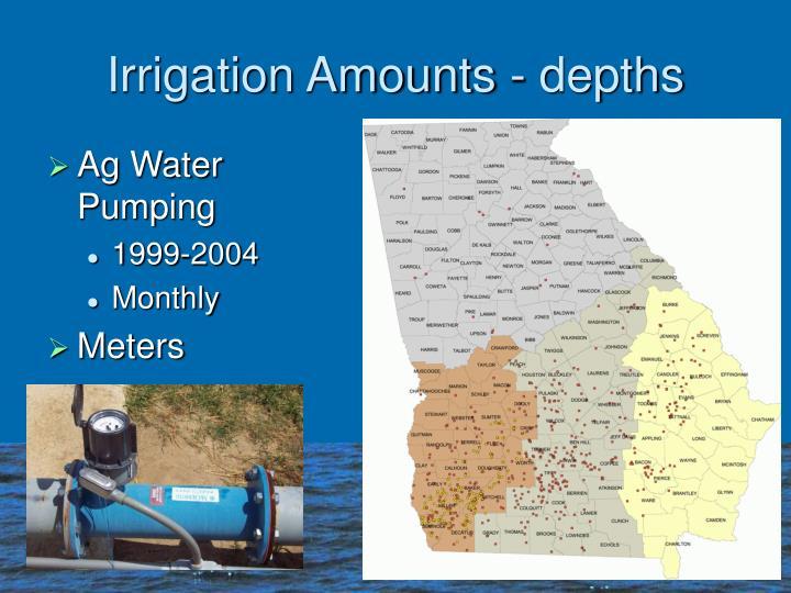 Irrigation Amounts - depths